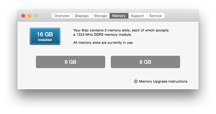 OSX - Memory check
