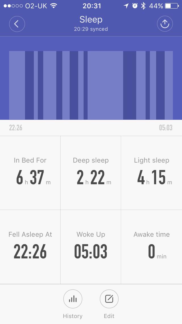 Mi Band app - Sleep tracker